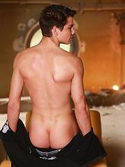 Shy stud Adam shows his long dick