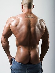 Hot muscle man shows cock