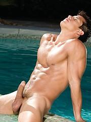 Hot machos have fun at sunny day