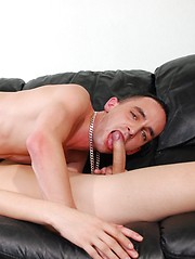 Guy drilling tight asshole with big pleasure
