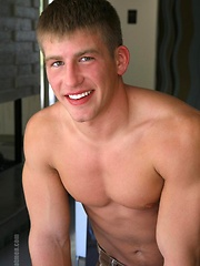 Straight college jock posing naked