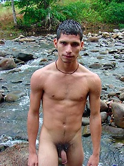 Twinky boy showing his latino big cock