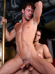 Two guys have anal and oral in the bar