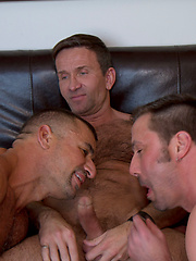 These guys dont miss a beat as they rock back and forth on one anothers raw cock