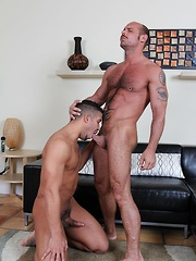 Raw man Jake pounds Trey hard and deep in doggie and then missionary