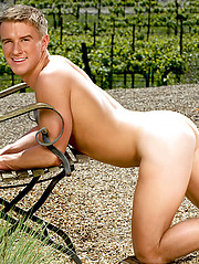 Sweet white-haired straight guy in first adult photo session