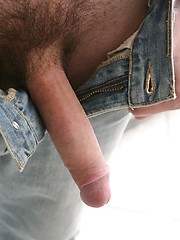 Cute twink boy shows long uncut cock