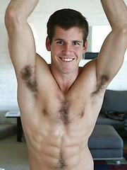 Well hung jock with hairy chest