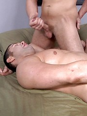 Two guys have hard anal sex