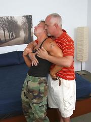 Jake sucking straight beefy soldier