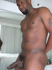 Black hunk shows his cock