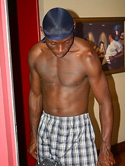 Black guy shows his huge schlong