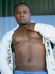Ebony muscle man