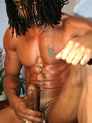Black muscled hunk naked