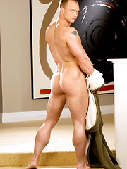 Hot gay stud showing his perfect nude body