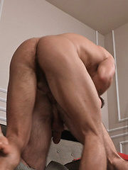 Two hot studs Marshall and Brice have anal bareback