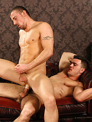 Marco loved riding Paddys thick straight cockney cock and milked it