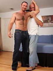 Muscle bear fucks older gay Jake hole