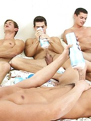 Fleshjack fun with four young gay boys
