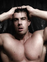 Hottest gay porn star Zeb Atlas showing his perfect muscle body