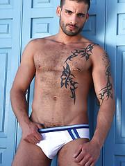 Hot gay stud Tony Axel bottoms for Edi Da Silvas arab cock