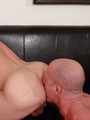 Chad and Jake passionately kiss and lick one another