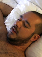 Pablo is hot for Daddy Noah and quickly starts to service his fat daddy cock
