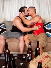 Two horny muscled studs kicked in the next thing