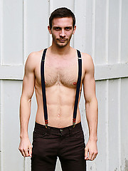 Sexy gay studs outdoor sucking