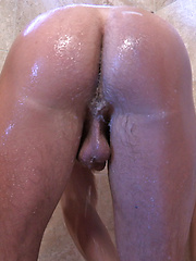 Dillon looked great naked, jerking off and dripping with sweat