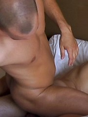 Bryce suck Grants cock before topping him bare in a couple of positions and blowing a load all over his rear