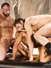 Three hot gay studs. Spencer Reed, Alexander Garrett, Jason Michaels