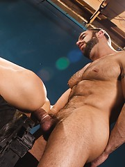 Hot muscle stud Spencer Reed fucks Bryce Star through gloryhole