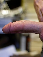 Red-headed hottie Christian Collins really enjoys his big dick, and loves lapping up drops of pre-cum