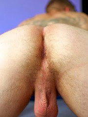 Hung new recruit Davis shows his huge thick veiny monster