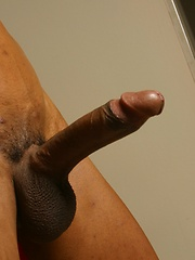 Oiled black handsome strokes his huge cock