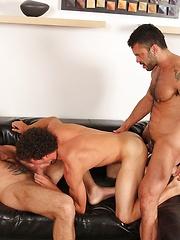Hottest gay threeway from Jake Deckard, Rogan Richards and Austin Merrick