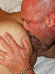 Chad Brock shoving his hairy cock and balls into Dylans boy face