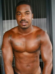 Black daddy oiled his hot brown chest