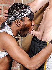 Black dude with white man slut