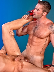Hottest gay porn star Jake Genesis fucking with Caleb Colton