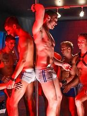 Gays orgy in strip bar
