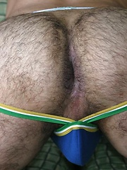 Hairy and Raw newcomer Leon Ryder loves showing off his fat black cock for the camera