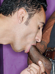 Pedro gave black cock a nasty blowjob, getting this dude so horny to fuck his ass