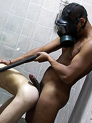 Alexander takes fetish to a whole new level with today packs for Shower Bondage.