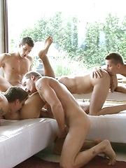 6 Hung Hungarians in condom free orgy