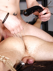 Roped Down And Anally Used