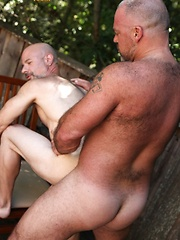 Evan Scott is intrigued and thrilled when muscle-bear Bronson Gates trespasses on his property for a cold drink of water