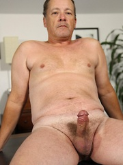 Daddy bear James Martin exudes masculinity through his whole beefy body, round ass and big hard cock