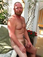 Ginger bear Kirby has one huge head on his fat cock that we can't get enough of